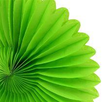 Papier o strukturze plastra miodu kwiat zielony Ø20cm 3szt