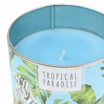 Świeca zapachowa w puszce Rainforest Blue Ø9,5cm H8cm