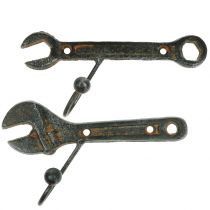 Hak ścienny narzędzie ciemny brąz 14cm 2szt.