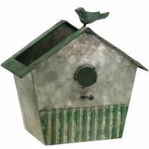 Metalowy domek dla ptaków do sadzenia H25,5cm