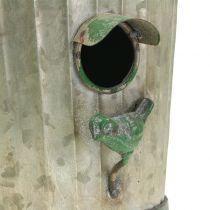 Dekoracyjny Wiszący Domek dla Ptaków Antyczna Zieleń H26cm