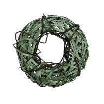 Wiklinowy wianek mały zielony Ø28cm