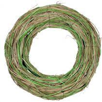Wieniec basztowy z wierzbą natura/zielony Ø40cm