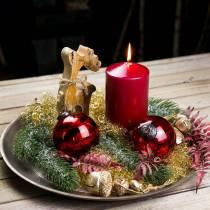 Dekoracja świąteczna figurka renifera drewno 21cm