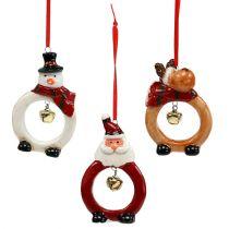 Figurki świąteczne 8cm - 10 cm do zawieszenia 3szt