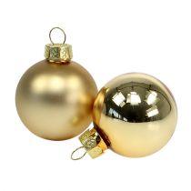 Bombka świąteczna 4cm złota błyszcząca/matowa 28szt.