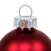 Kula świąteczna Ø4cm czerwona połysk/mat 24szt.