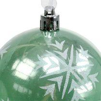 Kula świąteczna Ø8cm jasnozielona plastikowa 1szt.