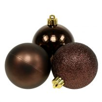 Kula świąteczna czekoladowa brązowa mix Ø6cm 10szt