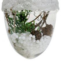 Ozdoby choinkowe śnieżna kula Ø8cm 2szt