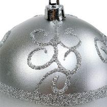 Kula świąteczna srebrna Ø8cm plastikowa 1szt