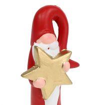 Figurka Świętego Mikołaja Czerwony H15cm