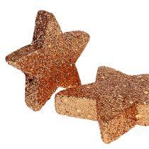 Christmas Stars Copper Glitter Stars Scatter Deco 40szt