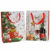 Torebka na prezenty świąteczne 8cm x 18cm H24cm Zestaw 2 szt.
