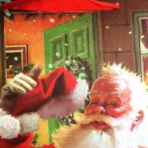 Torba świąteczna z Mikołajem 32cm x26cm x10cm