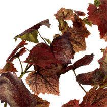 Vine Leaves Garland Dark Red 190cm