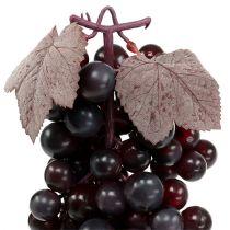 Kiść winogron ciemnoczerwona 44cm sztuczna