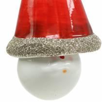 Świąteczna dekoracja wiszący elf dzwon 10 cm 4szt