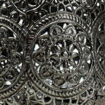 Latarnia srebrna Ø12cm H13cm 1szt.