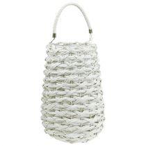 Latarnia pleciona Ø20cm W50cm biała