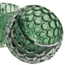 Lampion szklany ciemnozielony Ø8cm W6cm 2szt