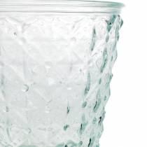 Latarnia Szklana z Nogą Przezroczysta Ø13,5cm H18cm Dekoracja Stołu Zewnętrzna
