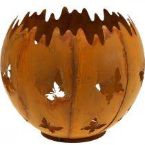 Cachepot Butterflies Rust Lantern Garden Decoration Ø21cm