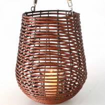 Świeca w koszu, lampion z uchwytem, dekoracja świecy, lampion w koszu Ø24cm H34cm