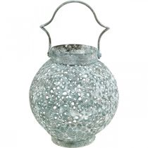 Metalowy lampion, świecznik w stylu antycznym Ø15cm H22cm