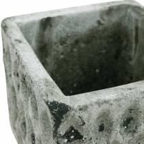 Doniczka do roślin, naczynie ceramiczne, dekoracja stołu antyczny wygląd H8cm 4szt.