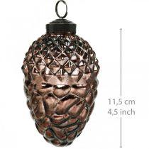 Szyszki do powieszenia, dekoracja drzewa, prawdziwe szkło, dekoracja jesienna, antyczny wygląd Ø7cm H11,5cm 6szt.