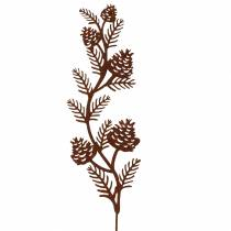 Korek ogrodowy gałązka gałązka metal rdzawy H40 cm 4szt.