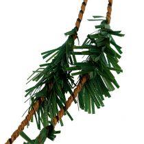 Girlanda cedrowa mini zielona z drutem 27m