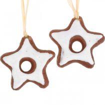 Dekoracje choinkowe cynamonowe gwiazdki dekoracyjne gwiazdki plastikowe 5cm 24szt