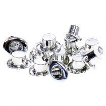 Cylinder mini srebrny 12szt.