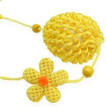 Girlanda z pisanek i kwiatów żółty 120 cm