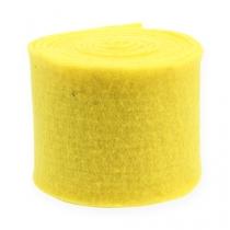 Taśma filcowa żółta 15cm 5m