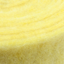Taśma filcowa jasnożółta 15cm 5m