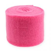 Wstążka filcowa różowa 15cm 5m