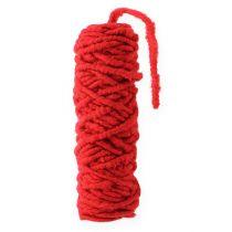 Sznurek filcowy fizelinowy Mirabell 25m czerwony