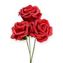Róża piankowa Ø6cm Czerwona 27szt