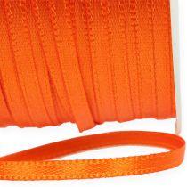 Wstążka prezentowa i dekoracyjna 3mm 50m pomarańczowa