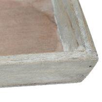 Taca drewniana szara 57cm x 17cm