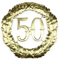 Rocznica numer 50 w kolorze złotym Ø40cm