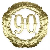 Rocznica numer 90 w kolorze złotym Ø40cm