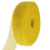 Wstążka jutowa żółta 5cm 40m