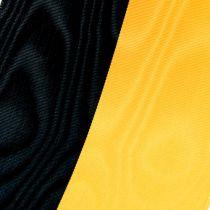 Wstążki wieńcowe Żółto-czarne moiré