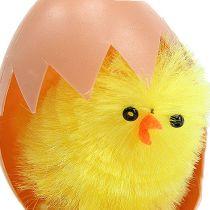 Kurczątko szenilowe 6,5 cm w jajku żółtym 4 szt