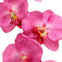 Sztuczna orchidea z liśćmi różowa 68cm