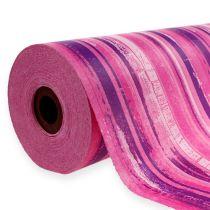 Papier mankietowy 25cm 100m różowy, różowy